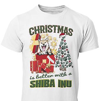 Shiba Inu Christmas dog pug t-shirt