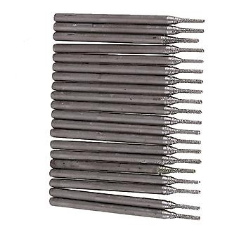 20 x 1mm Diamond Coated Tipped Solid Bits Jewelry Gems Drills Bit Hole Saw Tool