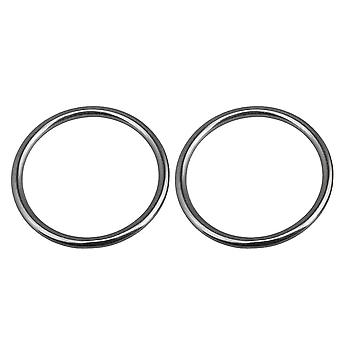 2PCS 6x70mm 304 Stainless Steel Heavy Duty Round Seamless Ring for Yoga