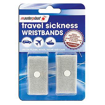 2x Anti Nausea Morning Sickness Motion Travel Sickness Wrist Bands Car Sea Plane