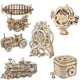 3d fa puzzle-mechanikus Gear Drive modell épület kit