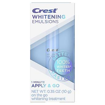 Crest whitening emulsions leave-on teeth whitening treatment, 0.35 oz
