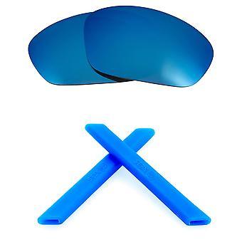 Replacement Lenses Kit for Oakley Straight Jacket Blue Mirror Blue Anti-Scratch Anti-Glare UV400 by SeekOptics