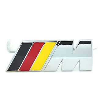 Germany Flag Black/Red/Yellow BMW M Sport M Tech Metal Front Grill Bonnet Badge Emblem Grill Badge For All Models