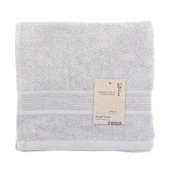 Country Club Bamboo Hand Towel, Silver