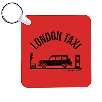 London Taxi Company TX4 At Traffic Lights Keyring