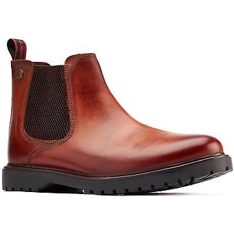 Base London Mens Anvil Leather Pull On Chelsea Botas
