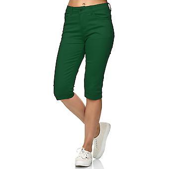 Women Capri Jeans Shorts Bermuda Short Summer Pants light 5 Pocket Big Size