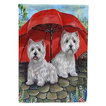 Carolines Treasures  PPP3198CHF Westie April Showers Flag Canvas House Size