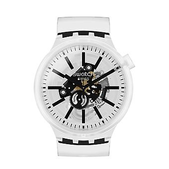 Swatch SO27E101 BLACKINJELLY Big Bold Siliconen Horloge
