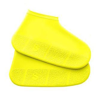 Waterproof Cycling Rain Reusable Overshoes Silicone Latex Elastic Shoe Covers