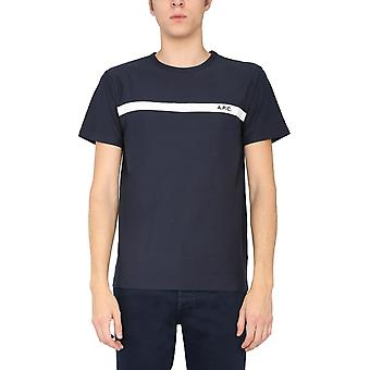 A.p.c. Coclih26853iak Men's Blue Cotton T-shirt