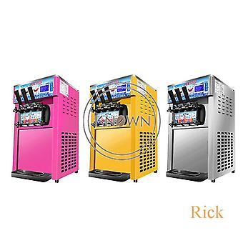 Soft Ice Cream Maker, Machine With 3 Different Flavors