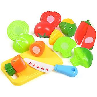 Plastic Food Toy-cut Fruit, Vegetable, Pretend Play