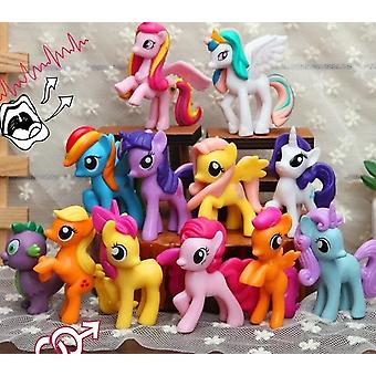 Friendship Is Magic Rainbow Dash Twilight Sparkle Pinkie Pie Rarity Pvc Action