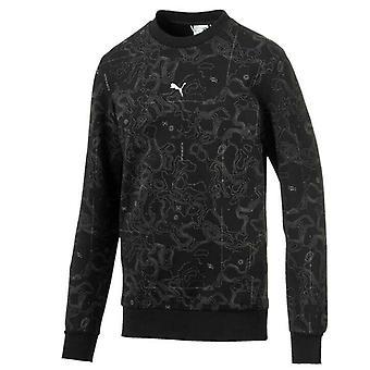Puma Epoch Crew AOP Sweatshirt Mens Black Jumper 595544 01