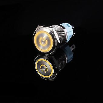 Switch Power And Waterproof Flat Circular Button Light