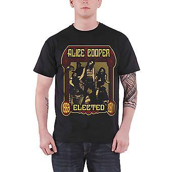 Alice Cooper Mens T Shirt Black Elected 1969 2011 Band Official Mens