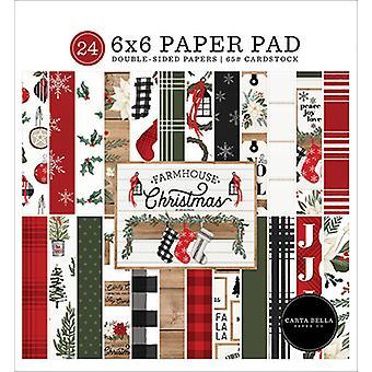 Carta Bella Maalaistalo Joulu 6x6 Tuuman Paperityyny