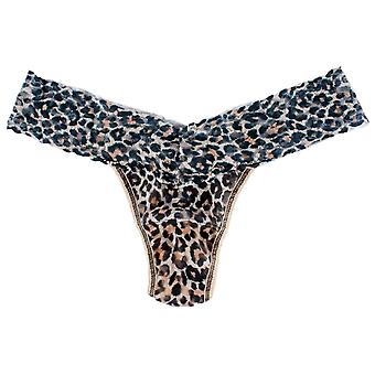 Hanky Panky Classic Leopard Low Rise Thong - Brown/Black