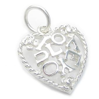 I Love You Sterling Zilveren Charm Hanger .925 X 1 Love Charms - 4749