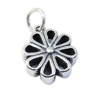 Daisy Sterling Silver Charm .925 X 1 Flower & Daisies Charms - 8571