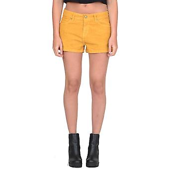 Corduroy Shorts Hot Pants - Beige
