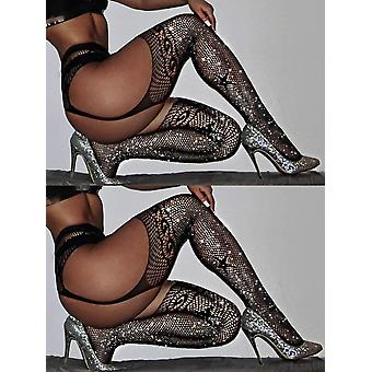 Rhinestone Thigh, High-stockings Carnival, Fishnet Over Knee, Hosiery