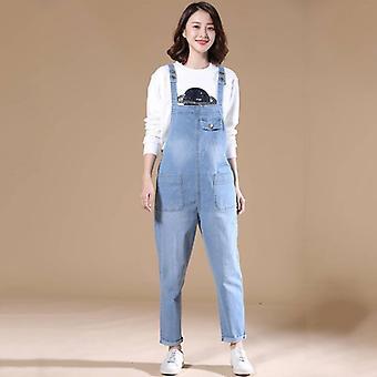 Femme/automne Bib Pants Overalls Shoulder Strap Jumpsuit Large Size Brand Denim