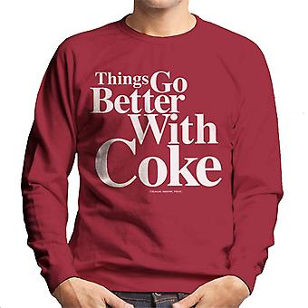 Coca Cola Things Go Better With Coke Men's Sweatshirt