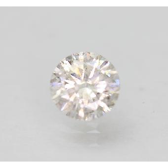 認定 0.55カラットF SI1ラウンドブリリアントエンハンスナチュラルルーズダイヤモンド 5.36mm