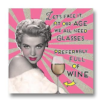 Pigment Nutty Neon - At Our Age We All Need Glasses Birthday Card Ln806a