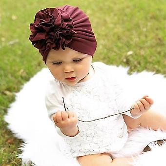 Fashion Flower Baby Turban Hats, Kids Caps Photo Headwear, Hair Accessories