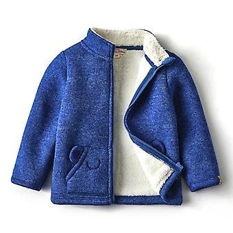 Vauvan kiinteä fleece trenssitakki vetoketju karhu korvatasku lämpimät vaatteet