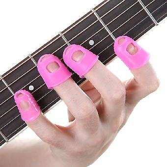 Celluloid Guitar Thumb Picks Finger Cap, Protect Fingers For Splicing Line,