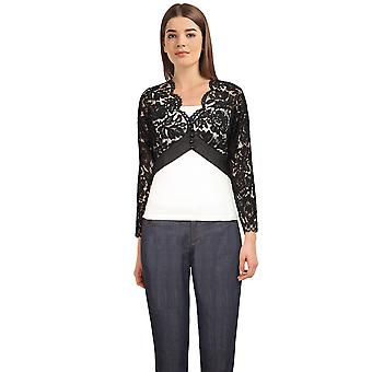 Chic Star Plus Size Pitsi Shrug Musta