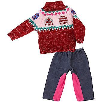 Wokex 3403183 Set Pudelmtze Puppenpullover & Hose - Puppenkleidung fr Babypuppen Gr. M von 42 - 46