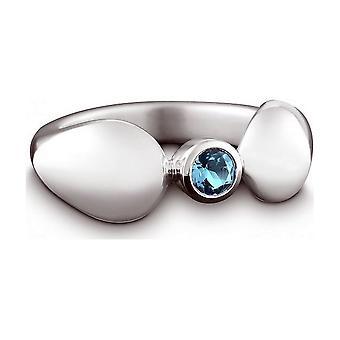 QUINN - Ring - Damen - Silber 925 - Edelstein - Blautopas - Weite 56 - 21038658