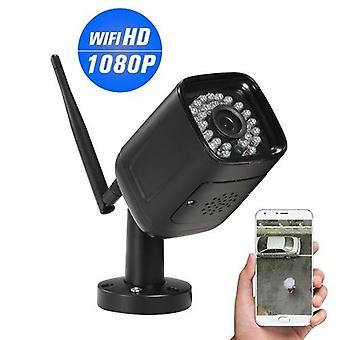 1080P HD Bullet WIFI Kamera Wetterfest Drahtlose IP-Kamera 2.0MP 30pcs Infrarot LED-Leuchten Unterstützung Telefon APP Steuerung Bewegungserkennung Nachtsicht für CCTV Home Surveillance Sicherheit