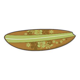 """Magnet, Surfebrett (hawaiiske blomster, grønn), 6.75"""" X 2"""""""