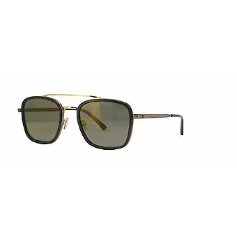 Jimmy Choo John/S 2M2/K1 Black-Gold/Brown-Gold Mirror Sunglasses