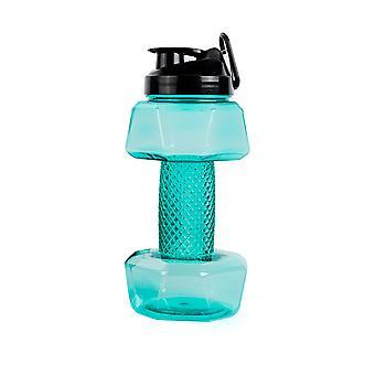 2.2L Big Capacity Dumbbell Shaped Water Bottle, Multifunctional Sports Plastic Water Cup, BPA Free, Flip Top Leak Proof lid