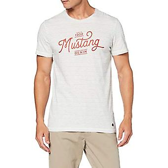 MUSTANG Aaron AW T-Shirt, Beige (Mini Stripe, Injection 11560), Medium Men's