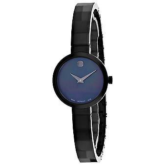 Movado Women's Novella Black Dial Watch - 607113