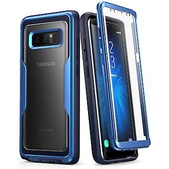 Galaxy Note 8 Case, Magma, i-Blason, Rugged Holster Case with Screen Protector - Metallic Blue