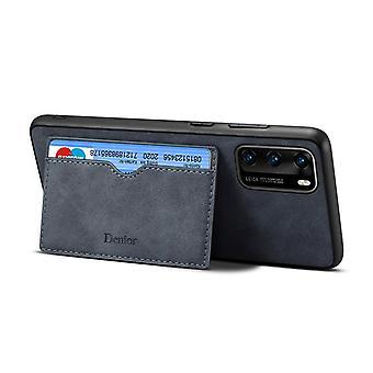 חריץ לכרטיס מארז עור ארנק עבור סמסונג note10plus רטרו אפור no2125