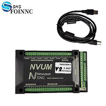 Nvum 5-akset Mach3 Usb Card 200khz Cnc Router 3 4 6-akset bevægelseskontrolkort