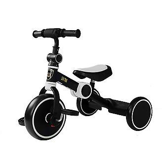 Tricycle pliable- avec pédales -noir et blanc