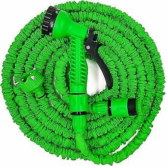 100Ft green 25ft-100ft expandable flexible garden water pipe with spray gun az41