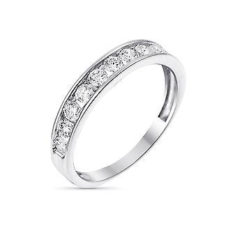 """Alliance Ring """"Rail"""" Vitt guld och diamanter"""